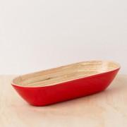 RED BAMBOO PLATTER_1 (Medium)