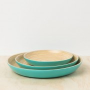 TURQUOISE BAMBOO TRAY_1 (Medium)